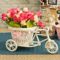 Tied Ribbons Multicolor Peony Artificial Flower with Pot